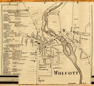 Wolcott Village, New York 1858 Old Town Map Custom Print - Wayne Co.