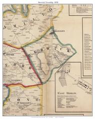 Berwick Township, Pennsylvania 1858 Old Town Map Custom Print - Adams Co.