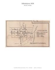 Abbottstown - Berwick Township, Pennsylvania 1858 Old Town Map Custom Print - Adams Co.