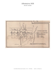Abbottstown - Berwick Township, Pennsylvania 1858 Old Town Map Custom Print - Adams Co.
