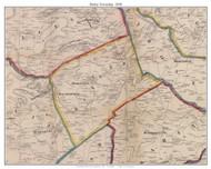 Butler Township, Pennsylvania 1858 Old Town Map Custom Print - Adams Co.