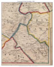 Conowago Township and Union Township, Pennsylvania 1858 Old Town Map Custom Print - Adams Co.