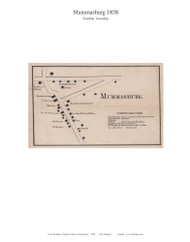Mummasburg - Franklin Township, Pennsylvania 1858 Old Town Map Custom Print - Adams Co.