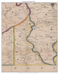 Freedom Township, Pennsylvania 1858 Old Town Map Custom Print - Adams Co.