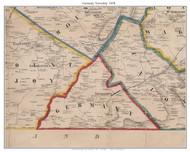 Germany Township, Pennsylvania 1858 Old Town Map Custom Print - Adams Co.