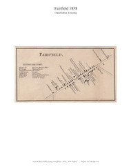 Fairfield - Hamiltonban Township, Pennsylvania 1858 Old Town Map Custom Print - Adams Co.