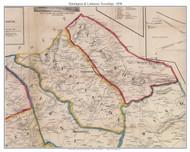 Huntington Township and Lattimore Township, Pennsylvania 1858 Old Town Map Custom Print - Adams Co.
