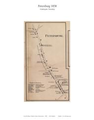 Petersburg - Huntington Township, Pennsylvania 1858 Old Town Map Custom Print - Adams Co.