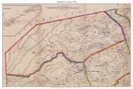 Menallen Township, Pennsylvania 1858 Old Town Map Custom Print - Adams Co.