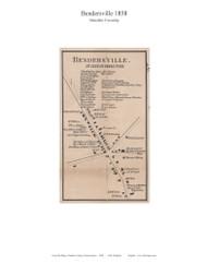 Bendersville - Menallen Township, Pennsylvania 1858 Old Town Map Custom Print - Adams Co.