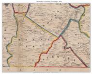 Mount Joy Township and Germany Township, Pennsylvania 1858 Old Town Map Custom Print - Adams Co.