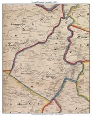 Mount Pleasant Township, Pennsylvania 1858 Old Town Map Custom Print - Adams Co.