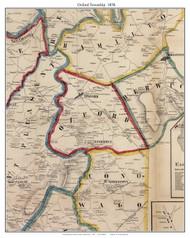Oxford Township, Pennsylvania 1858 Old Town Map Custom Print - Adams Co.