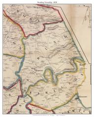 Reading Township, Pennsylvania 1858 Old Town Map Custom Print - Adams Co.