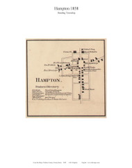 Hampton - Reading Township, Pennsylvania 1858 Old Town Map Custom Print - Adams Co.