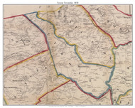 Tyrone Township, Pennsylvania 1858 Old Town Map Custom Print - Adams Co.