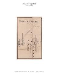 Heidlersburg - Tyrone Township, Pennsylvania 1858 Old Town Map Custom Print - Adams Co.