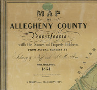 Title of Source Map - AlleghenyCo., Pennsylvania 1851 - NOT FOR SALE - Allegheny Co.