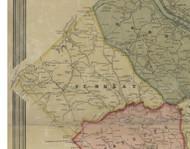 Findlay Township, Pennsylvania 1851 Old Town Map Custom Print - Allegheny Co.