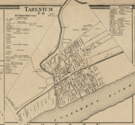 Tarentum - East Deer Township, Pennsylvania 1862 Old Town Map Custom Print - Allegheny Co.