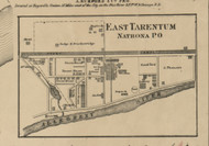 East Tarentum & Natrona - Fawn Township, Pennsylvania 1862 Old Town Map Custom Print - Allegheny Co.