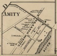 Amity - Mifflin Township, Pennsylvania 1862 Old Town Map Custom Print - Allegheny Co.