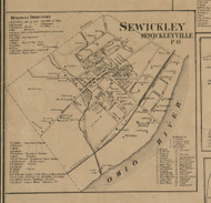 Sewickleyville - Sewickley Township, Pennsylvania 1862 Old Town Map Custom Print - Allegheny Co.