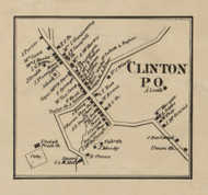 Clinton PO - Allegheny Co., Pennsylvania 1862 Old Town Map Custom Print - Allegheny Co.