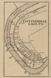 Coultersville & Eakin - Allegheny Co., Pennsylvania 1862 Old Town Map Custom Print - Allegheny Co.