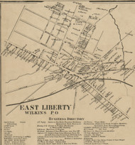 East Liberty PO - Allegheny Co., Pennsylvania 1862 Old Town Map Custom Print - Allegheny Co.