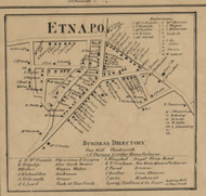 Etna PO - Allegheny Co., Pennsylvania 1862 Old Town Map Custom Print - Allegheny Co.