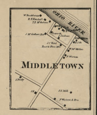 Middletown PO - Allegheny Co., Pennsylvania 1862 Old Town Map Custom Print - Allegheny Co.