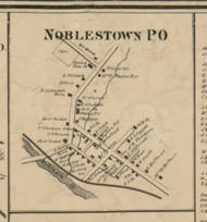 Noblestown PO - Allegheny Co., Pennsylvania 1862 Old Town Map Custom Print - Allegheny Co.
