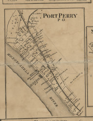 Port Perry PO - Allegheny Co., Pennsylvania 1862 Old Town Map Custom Print - Allegheny Co.