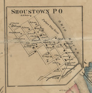 Shoustow PO - Allegheny Co., Pennsylvania 1862 Old Town Map Custom Print - Allegheny Co.