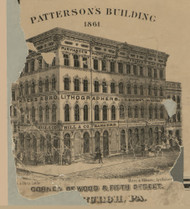Patterson Building  - Allegheny Co., Pennsylvania 1862 Old Town Map Custom Print - Allegheny Co.