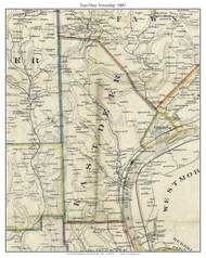 East Deer Township, Pennsylvania 1883 Old Town Map Custom Print - Allegheny Co.