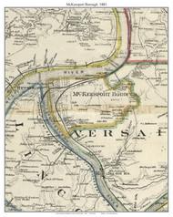 McKeesport Township, Pennsylvania 1883 Old Town Map Custom Print - Allegheny Co.
