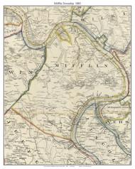 Mifflin Township, Pennsylvania 1883 Old Town Map Custom Print - Allegheny Co.