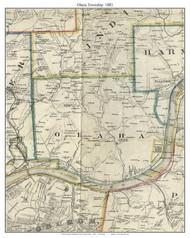Ohara Township, Pennsylvania 1883 Old Town Map Custom Print - Allegheny Co.