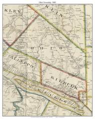 Ohio Township, Pennsylvania 1883 Old Town Map Custom Print - Allegheny Co.
