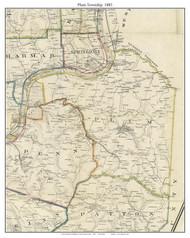 Plum Township, Pennsylvania 1883 Old Town Map Custom Print - Allegheny Co.
