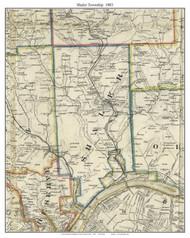 Shaler Township, Pennsylvania 1883 Old Town Map Custom Print - Allegheny Co.