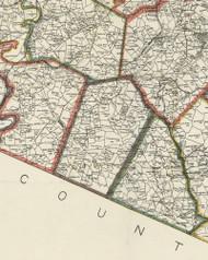 Bethel Township, Pennsylvania 1898 Old Town Map Custom Print - Allegheny Co.