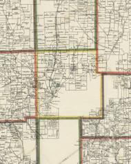 Hampton Township, Pennsylvania 1898 Old Town Map Custom Print - Allegheny Co.