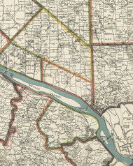 Kilburn Township, Pennsylvania 1898 Old Town Map Custom Print - Allegheny Co.