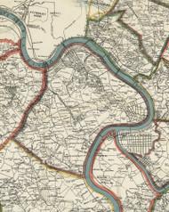 Mifflin Township, Pennsylvania 1898 Old Town Map Custom Print - Allegheny Co.