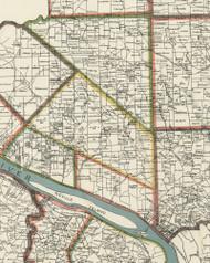 Ohio Township, Pennsylvania 1898 Old Town Map Custom Print - Allegheny Co.