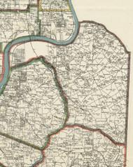 Plum Township, Pennsylvania 1898 Old Town Map Custom Print - Allegheny Co.