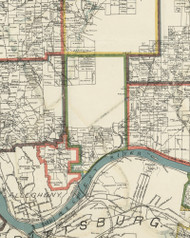 Shaler Township, Pennsylvania 1898 Old Town Map Custom Print - Allegheny Co.